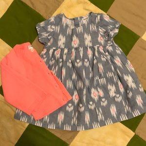 Cute Dress With Cardigan